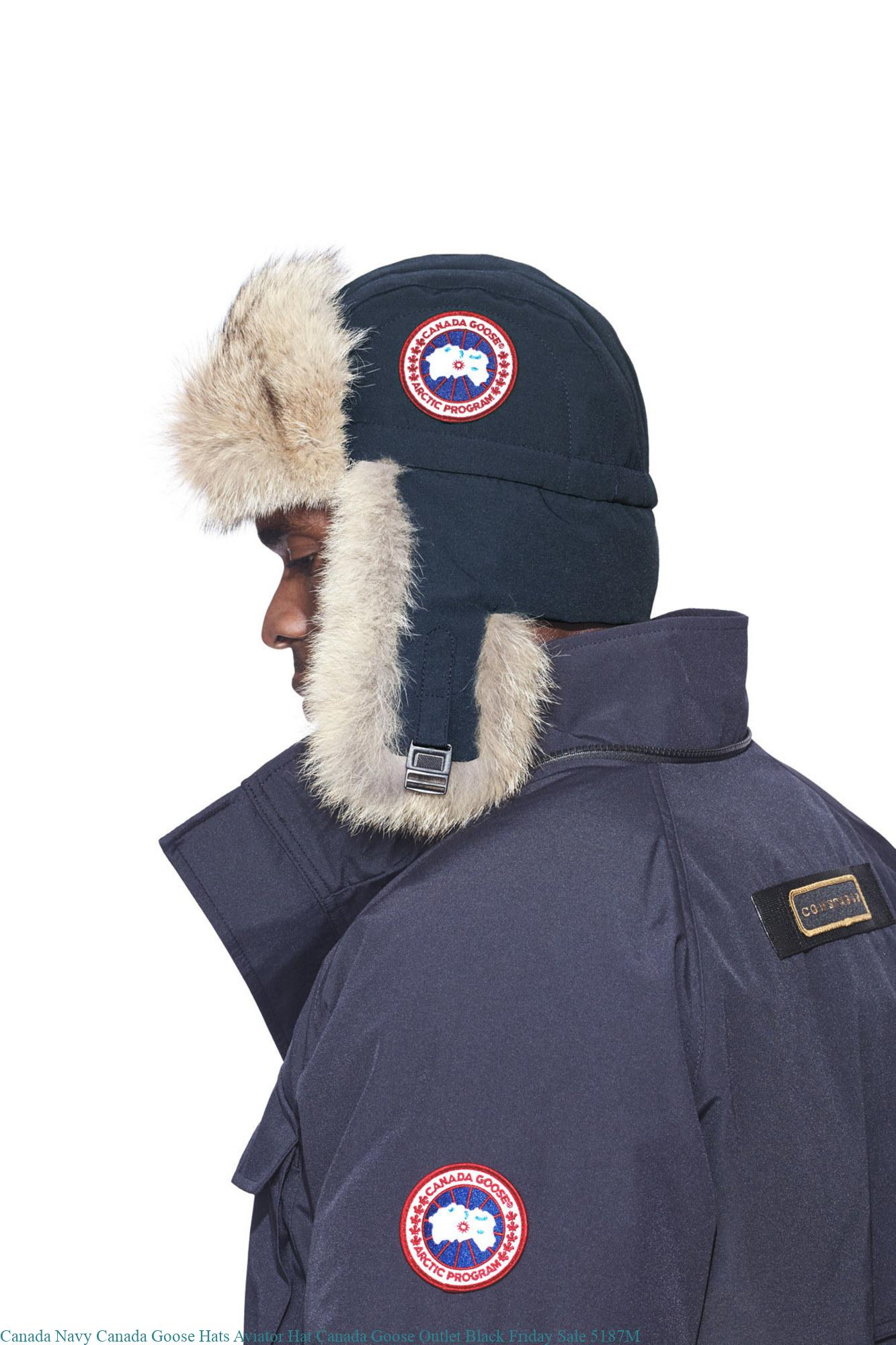 a341372d71e759 Canada Navy Canada Goose Hats Aviator Hat Canada Goose Outlet Black Friday  Sale 5187M
