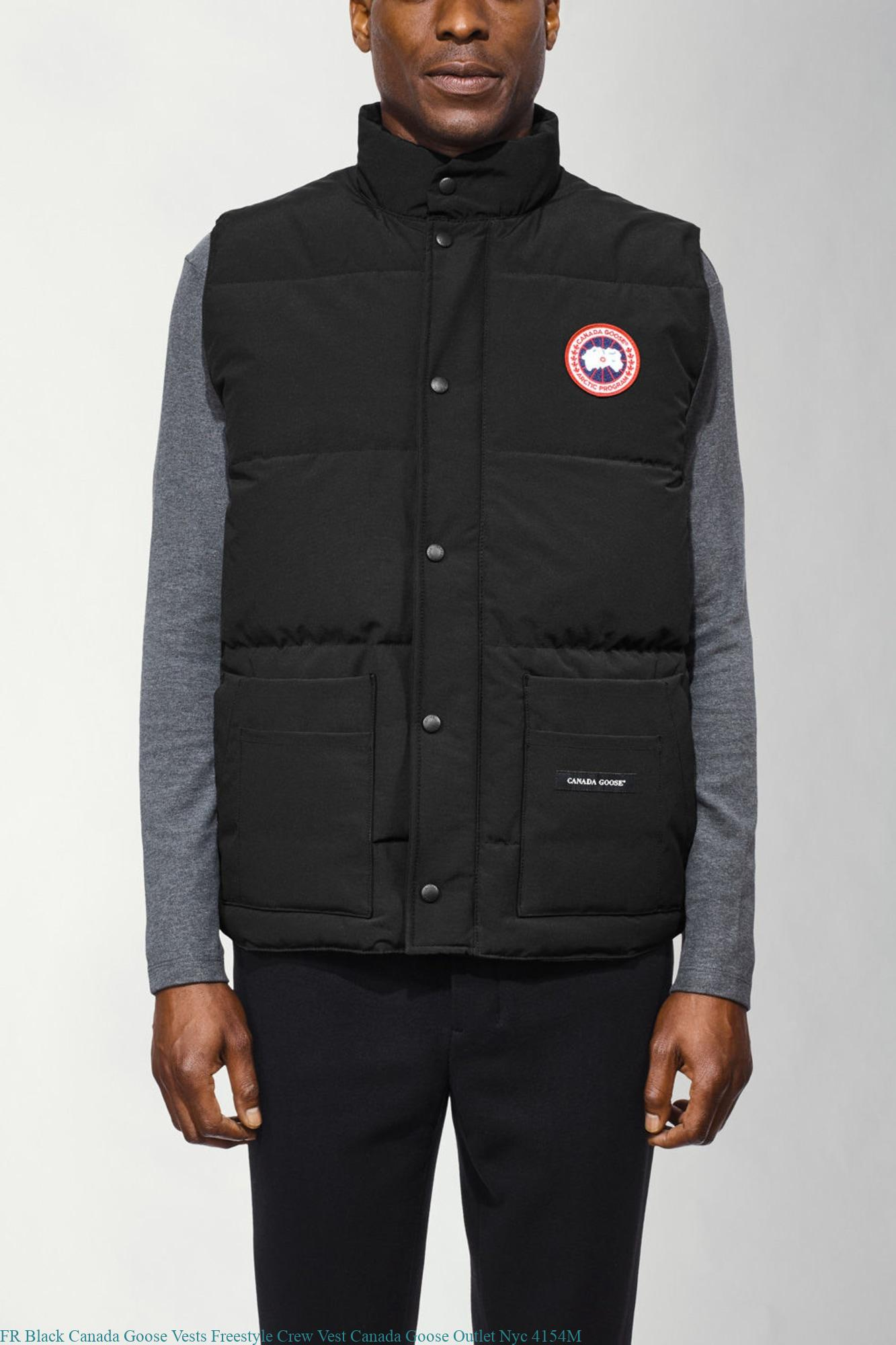 FR Black Canada Goose Vests Freestyle Crew Vest Canada Goose Outlet Nyc  4154M – Cheap Canada Goose Outlet Store Jacket Expedition Parka Sale 825181501812