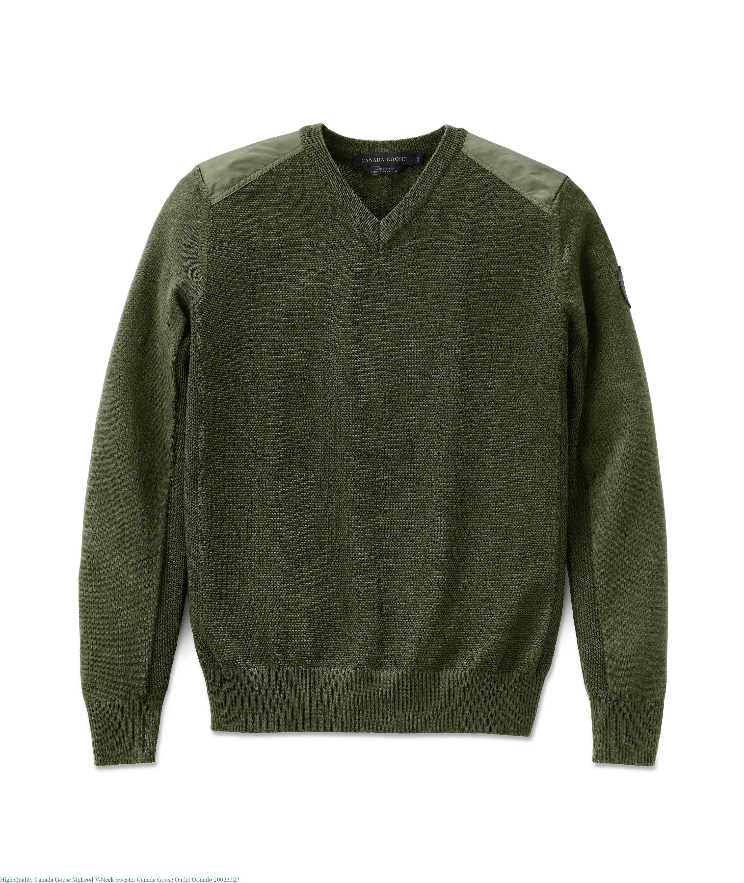 da01904d89e High Quality Canada Goose McLeod V-Neck Sweater Canada Goose Outlet Orlando  20023527