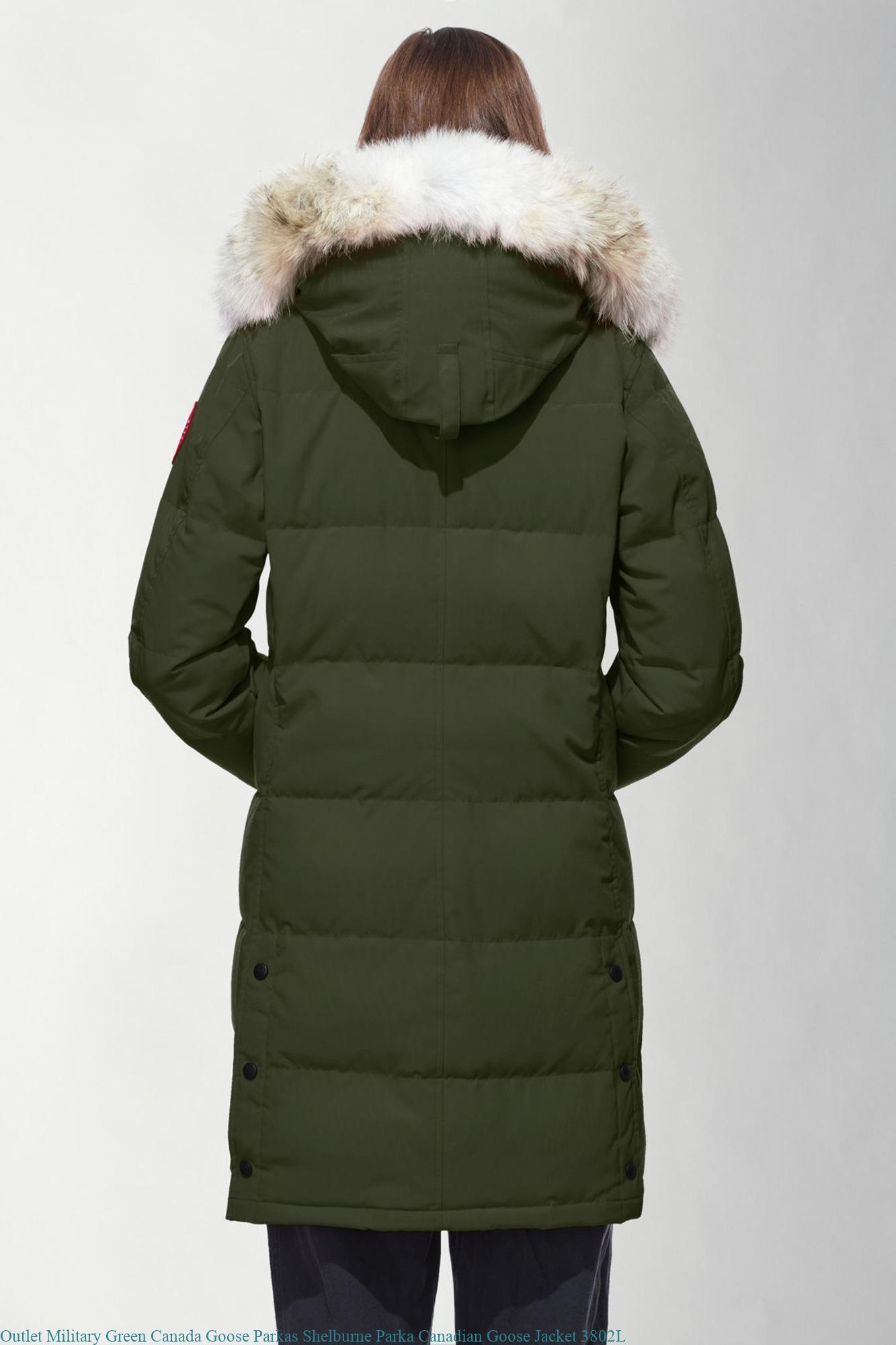 sale retailer 4e529 59750 Outlet Military Green Canada Goose Parkas Shelburne Parka Canadian Goose  Jacket 3802L