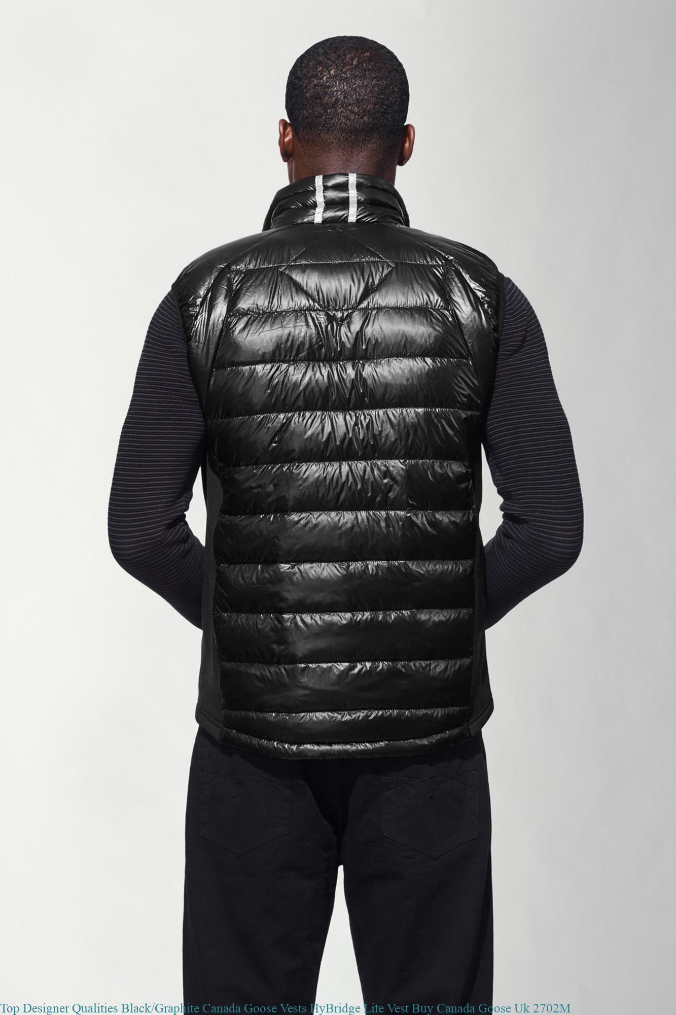Top Designer Qualities Black Graphite Canada Goose Vests HyBridge Lite Vest  Buy Canada Goose Uk 2702M 7c6ae3ef17ac